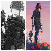 I'm A Soldier Anime Girl by KatieCAKEZ