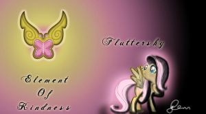 Fluttershy Wallpaper - Element Of Kindness by TheLegendHimself