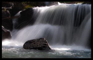 The Waterfall at Bomber Basin by wetdog969