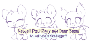 P2U Deer and Pony Lineart by Sarilain