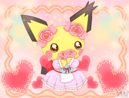 Cute Gizamimi Pichu by jirachicute28
