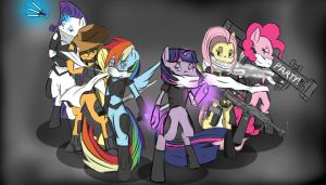 The Mane 6 by ConvoyKaiser