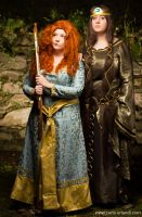 Merida and Elinor by rotschwarze