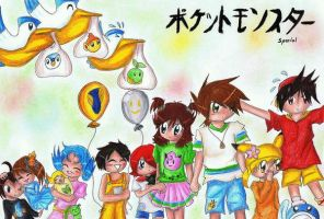 Pocket Monster Special kids by WoBu-Chan