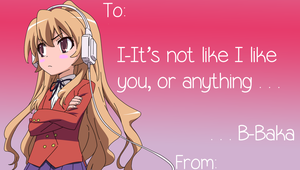 Tsundere Valentines Card by Seoul-Mate
