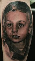 Portrait tattoo by Remistattoo