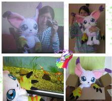 Gatomon Tailmon full size plush 2 by chocoloverx3