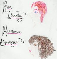 Ron and Hermione by Cilo