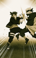 obito VS kakashi by carl1tos