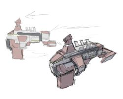 Sketch : SpaceShip 000 by ManiacPaint
