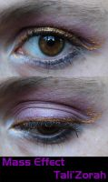 Tali'Zorah Eye Make-Up by LadySiha