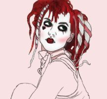 Emilie Autumn wip2 by Reekaann