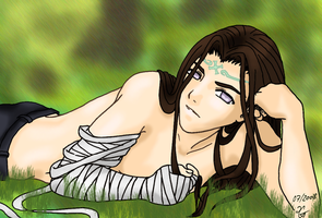 Hyuuga Neji Colored by TheDarkShiva