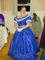 Blue Victorian gown with evening bodice by barelyproper