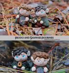 Frodo and Samwise Clay Figurines by Comsical