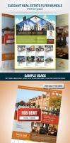 4 Elegant Real Estate Flyer Set by antyalias