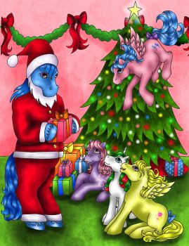 My Little Pony Merry Christmas by bewilderness