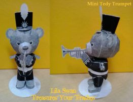 Mini Teddy Bear (Trumpet) by lila-swan