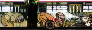graffiti bus by esteo