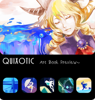 Quixotic art book preview by OXMiruku