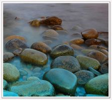 Water and Pebbles by gordonrae
