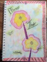 Art Journal Page -flowers- by saphiraly