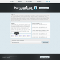 TomMalins.com web template by jackinnes