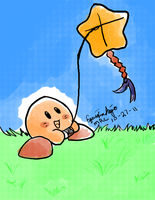 Kirby's Kite by EquidnaRojo