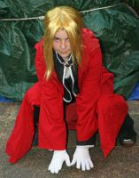 Edward Elric Cosplay Crouch by Sheiabah-Stock