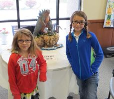 Lucy and Cadence at my Exhibit by Legrandzilla