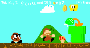 Super Mario Bros. iScribble by TheMarioManiac