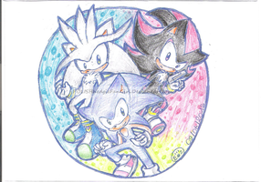 The 3 Hedgehogs by POLISHhedgieFanGirl