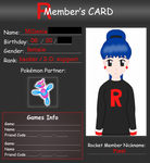 Rocket Member Card by MikariStar