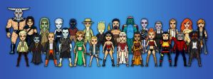 Wonder Woman New 52 Cast - Micro-Heroes by Don-Jack