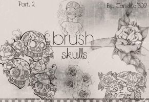 Skull Brushes Part 2 By Canelita309 by SriitaDeWatt