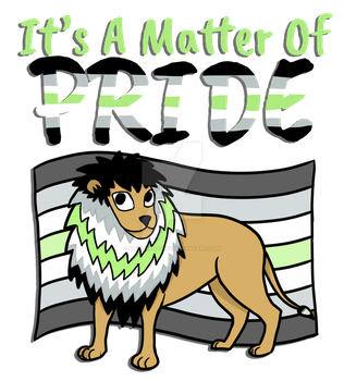 Agender Pride Lion- With Text by marzipan-pond