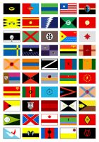 superheroes as flags by Lish0ffs