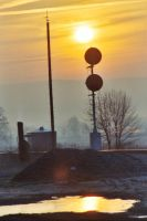 Sunrise Over Stuarts Draft by Trainman51