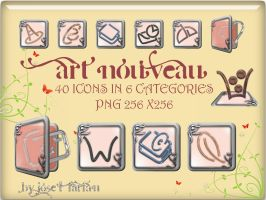 Art Nouveau Icons by jlfarfan