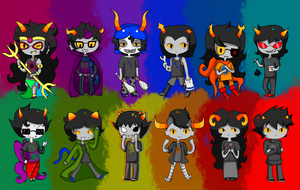 Homestuck Stickers by Dartty