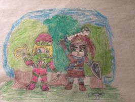 Taffyta the Sheik and Vanellope the Link by Joob-Jaibot