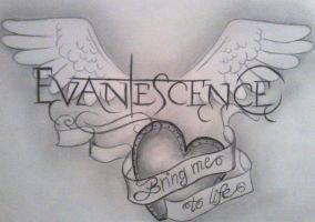 evanescence wings by ILoveINK666