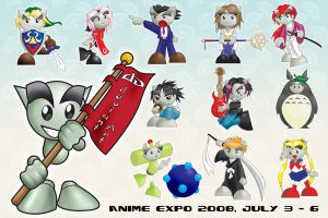 dA Anime Expo 08 poster 1 by Pooky-di-Bear