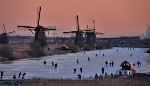 Winter at Kinderdijk by Esperimenti