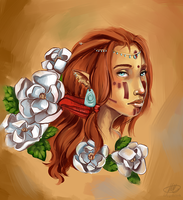 Jynxai glass and Flower by CrypticInk
