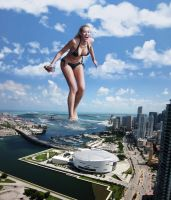 Kennedy Summers Coming Ashore In Miami by Tiny-Little-Lisa