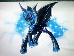 Nightmare Moon (Tattoo?) by nothing111111