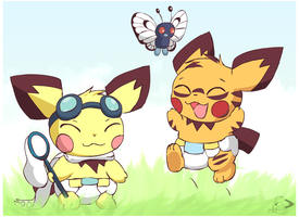 Come here butterfree! by pichu90