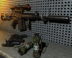 M4A1-CARBINE by TonyHarris