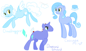 Adoptable Ponies by ShinyStrawberry
